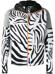 Adidas By Kolor Zebra Print Zip Hoodie Black