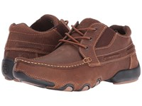 Roper High Country Cruisers Sport Tan Oiled Leather Men's Lace Up Casual Shoes