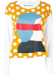 Marni 'Dawn' Longsleeved T Shirt White