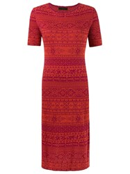 Talie Nk Knit Midi Dress Red