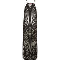 River Island Womens Black Lace Cover Up Maxi Dress