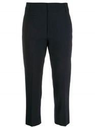 Dondup Tailored Cropped Trousers Blue