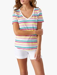 Pure Collection Linen Jersey Tee Multi