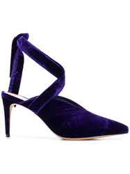 Alexandre Birman Pointed Mule Pumps Blue