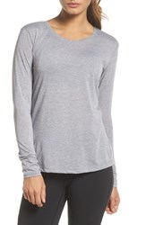 Brooks Distance Long Sleeve Tee Heather Sterling
