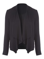 Jane Norman Chiffon Waterfall Jacket Black