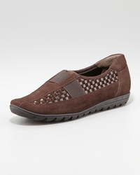 Sesto Meucci Jaylene Woven Leather Loafer Tmoro Brown