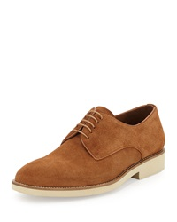 Gordon Rush Shelton Suede Lace Up Oxford Tobacco