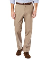 Dockers Big And Tall Signature Flat Front Pants Beige