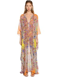 Etro Paisley Printed Silk Georgette Dress Multicolor