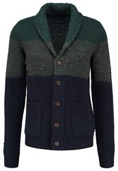 Pier One Cardigan Green Blue Mottled Grey