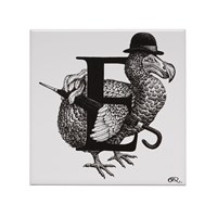Rory Dobner Extinct Dodo Letter E Tile
