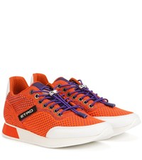 Etro Knitted Sneakers Orange
