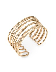 Design Lab Lord And Taylor Goldtone Wire Cuff Bracelet