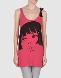 Phard Sleeveless T Shirts Coral