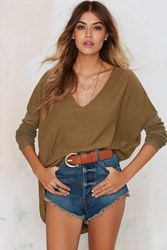 Nasty Gal Glamorous Piper Asymmetric Sweater