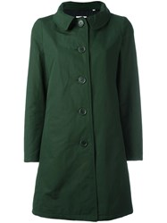 Aspesi Buttoned Mid Coat Green
