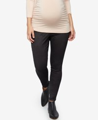 A Pea In The Pod Maternity Faux Suede Leggings Core Black