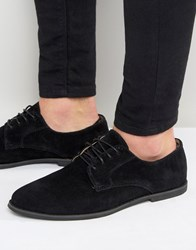 Zign Suede Derby Shoes Black