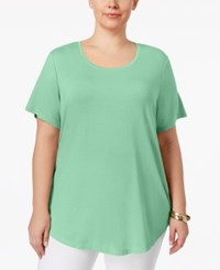 Jm Collection Plus Size Short Sleeve Top Only At Macy's Mint Julip