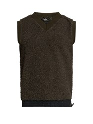 Kolor V Neck Sleeveless Fleece Top Grey
