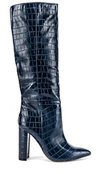 Steve Madden Triumph Boot In Blue. Blue Crocodile