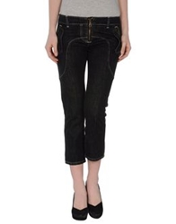 Frankie Morello Denim Capris Black