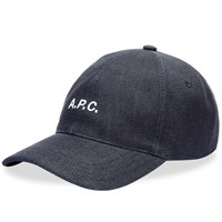 A.P.C. Denim Logo Cap Blue