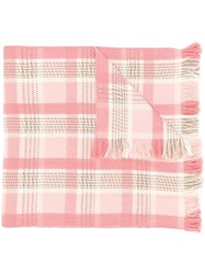Loro Piana Checked Scarf Pink
