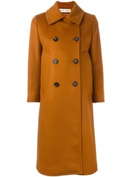 Marni Double Breasted Mid Length Coat Brown