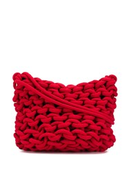 Alienina Rope Knit Shoulder Bag Red