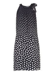 Vera Mont Polka Dot Dress With Neck Tie Multi Coloured