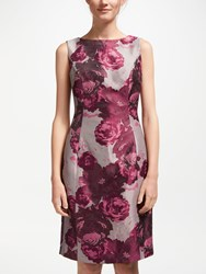 Bruce By Bruce Oldfield Jacquard Shift Dress Pink Wine Tasting