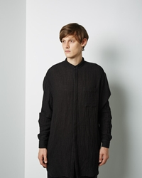 Forme D'expression Oversized Long Shirt Black