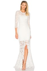 Rachel Zoe All Over Lace Gown White