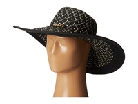 San Diego Hat Company Pbl3038 Sunbrim W Contrast Edge And Gold Bead Trim Black Caps