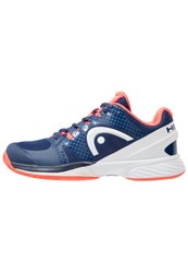 Head Nitro Pro Claycourt Outdoor Tennis Shoes Navy Coral