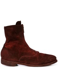 Guidi Front Zipped Boots Purple