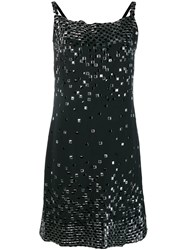 Chanel Vintage Embellished Straight Dress Black
