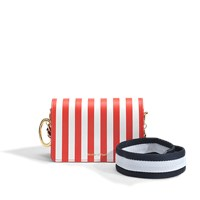 Mother Of Pearl Jude Crossbody Bag In Red And White Calfskin