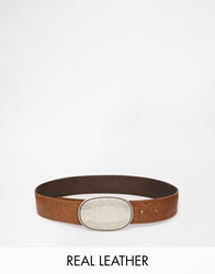 Black And Brown Tooled Leather Waist Belt