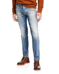 Ag Adriano Goldschmied Dylan Slim Fit Faded Jeans Blue