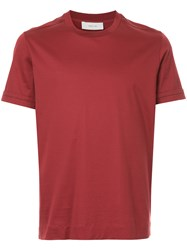 Cerruti 1881 Turn Up Sleeve T Shirt Red