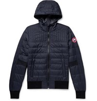 Canada Goose Cabri Slim Fit Quilted Nylon Ripstop Hooded Down Jacket Navy