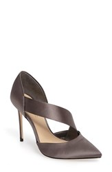 Imagine By Vince Camuto Women's Oya Asymmetrical Pointy Toe Pump Storm Grey Satin