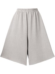 Maison Martin Margiela Mm6 Checkered Loose Fitted Shorts Nude And Neutrals