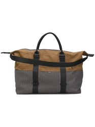 Zanellato Panelled Holdall Men Cotton Leather One Size Brown