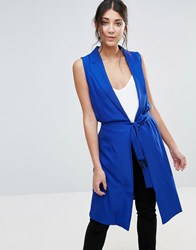 Unique 21 Belted Waistcoat Blue