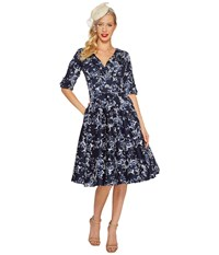 Unique Vintage Delores Dress Navy Floral Women's Dress