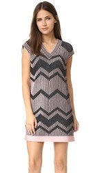 M Missoni Bicolor Mesh Lurex Dress Pink